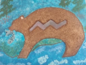 Student work of rock art project.