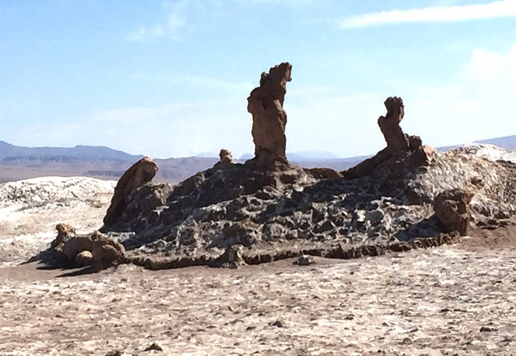 Natural Salt Sculptures, Atacama Desert, Chile photo by Lawrence Wade