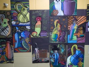 student work at Gatewood School