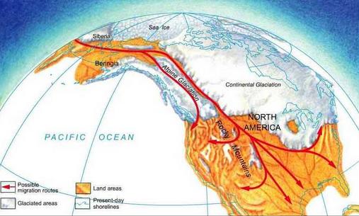 Bering Sea land Bridge ows.edb.utexas.edu